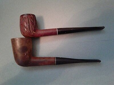 Lot of 2 Vintage Willard Imported Briar Tobacco Estate Pipes