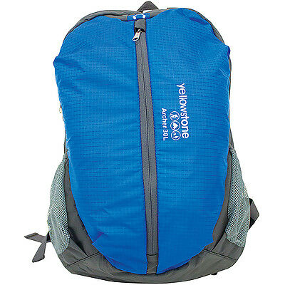 30L Archer Backpack Rucksack Shoulder Bag Travel Camping Outdoor Luggage Blue