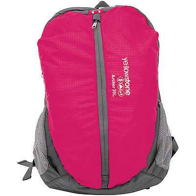 30L Archer Backpack Rucksack Shoulder Bag Travel Camping Outdoor Luggage Pink