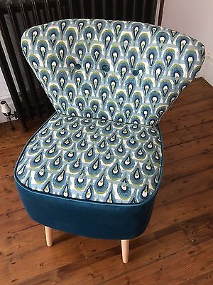 2 contemporary cocktail chairs hand made brand new