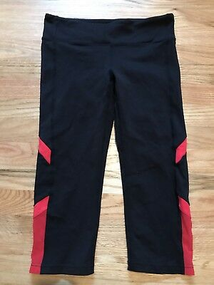 Women's Alo Skinny Legging Capri, Size Medium M, Black