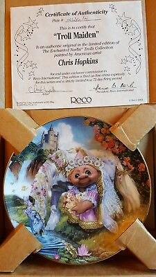 Troll Maiden plate certificate of authenticity