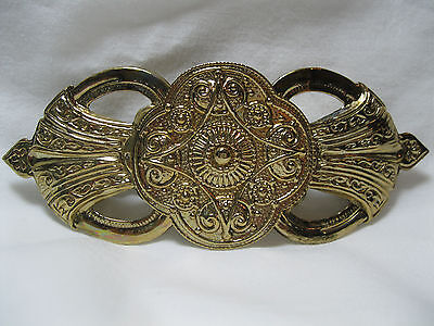 Vintage New Old Stock Large Gold Barrette Clip Never Worn 70's 80's Retro Nos