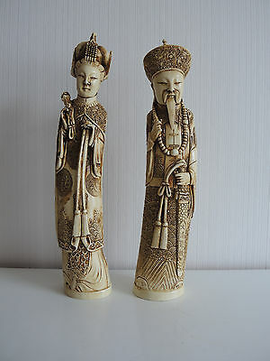 Chinese carved  figures marked