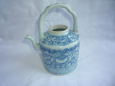 Antique Chinese Porcelain Blue and White Painted Teapot