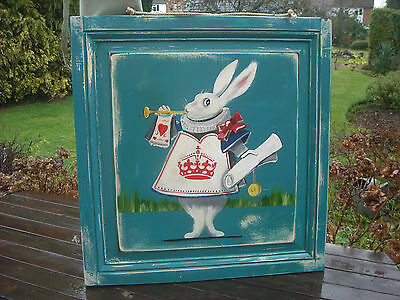 "An Original Oil on Panel - White Rabbit - Alice in Wonderland - 32"" by 30"""