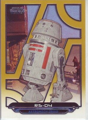 Star Wars Galactic Files Reborn gold parallel R5-D4 droid 04/10