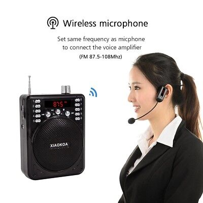 Bluetooth voice amplifier with wireless headset microphone bluetooth speaker fm