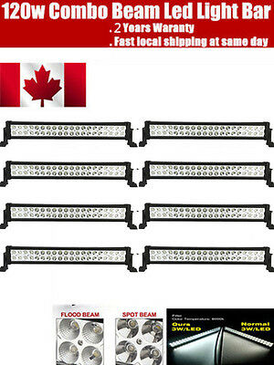 8PCS 22 inch 120W CREE LED Work Light Bar SUV 4WD ATV Off Road Truck Jeep Ford