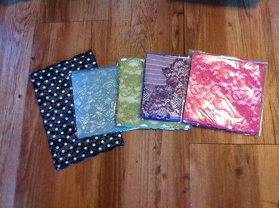 """New!! SELL OUT!! 5 Pair Boot Cuffs Toppers Each Cello Pkged 12"""" Circum Purple"""