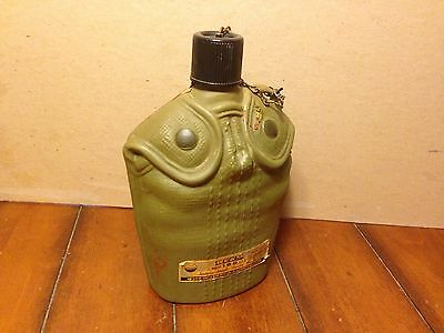 Vintage 1979 Jim Beam Whiskey Bottle Decanter WWII Military Water Canteen Army