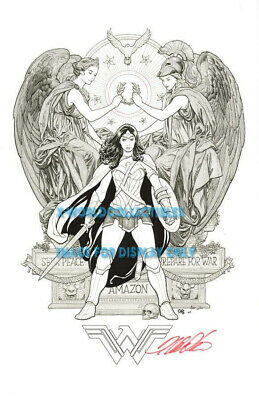 "FRANK CHO WONDER WOMAN SDCC 2017 ART PRINT #2 - SIGNED 11""x17"""