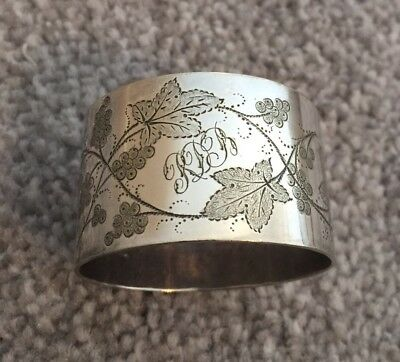 Victorian Silver Plated Napkin Ring Vintage