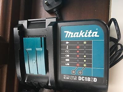 Makita DC18SD battery charger Li-ion No-mMH 7.2-18V