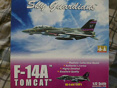 Witty/skyguardians F-14A Vx-4 1980 Tomcat In Black Bunny Type Livery 1/72 Scale