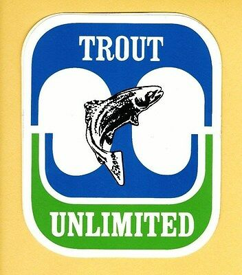 Pa Pennsylvania Fish & Boat Commission related Trout Unlimited TU Decal Sticker