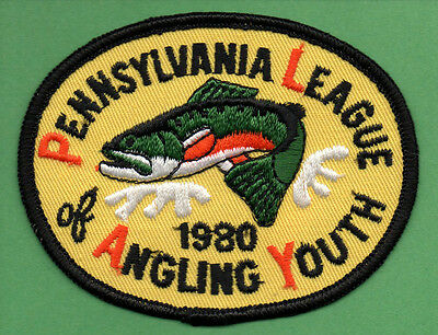 NEW Pa Pennsylvania Fish Commission PLAY 1980 Brook Trout youth fishing patch