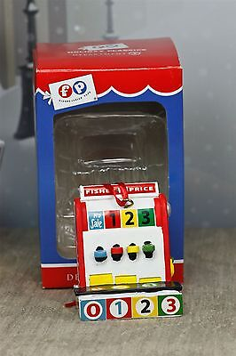 "Dept 56 Fisher Price Toy Cash Register Ornament 2.5"" Resin Figurine Classic NEW"
