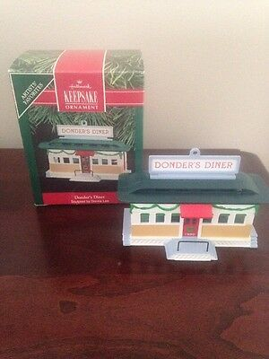 Hallmark Keepsake Ornament, Donder's Diner, 1990, QX482-3, Signed
