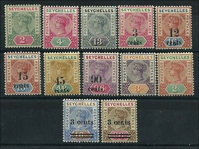 Seychelles 1890/1901, small group unused QV stamps