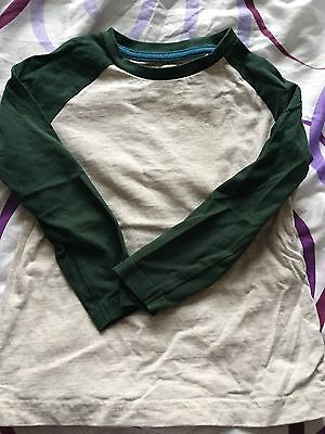 Boy's Beige And Green Long Sleeved Top Size 18-24 Months