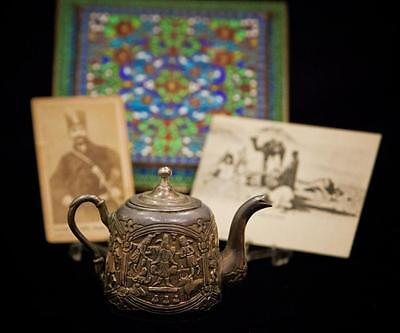 PERSIA: Antique Silver Teapot with Lid Mark 84 from personal estate of...