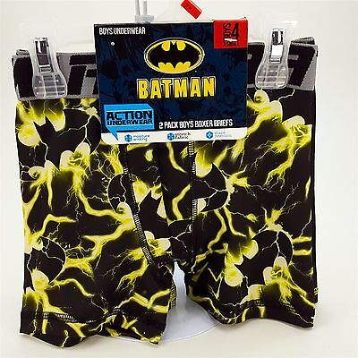 Batman Boxer Brief 2pack Boys X-Small Sz4 Action Underwear Stretch Fabric NEW