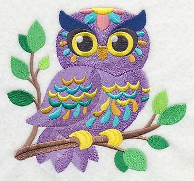 "Owl Baby, Birds of Prey, Embroidered Patch 5.3""x 4.8"""