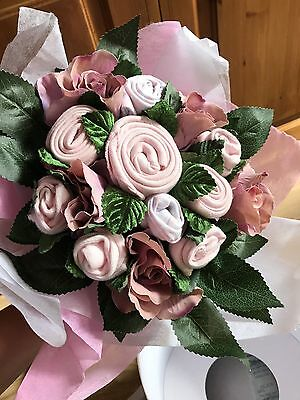 Babyblooms hand tied bouquet, baby girl clothes 0-6 months ~ new ~