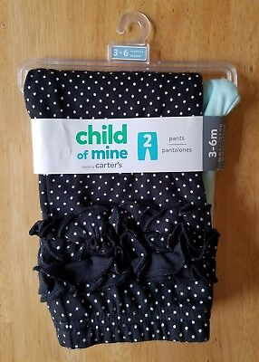 Baby Girls Clothes, Set of 2 Pants, Size 3-6 Months, Carter's brand