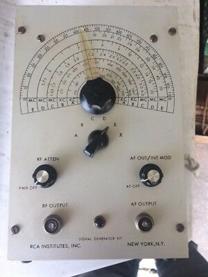 RCA Institutes Signal Generator Kit RF AF New York NY