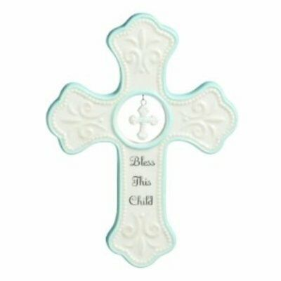 Nat and Jules Bless This Child Hanging Cross P00326-DISC