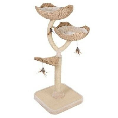 Cat Tree Scratch Post Flower Removable Cushions 55 x 55 x 130 cm