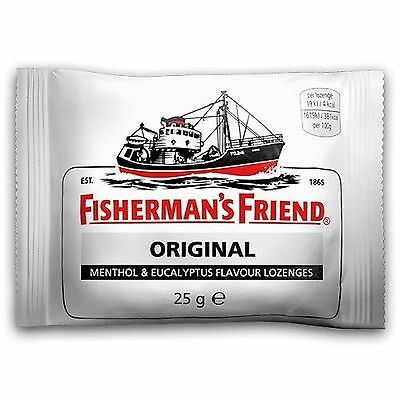 3, 6, 12  or 24 Packs Fishermans Friend Original Extra Strong Lozenges 25g