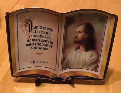 """The Franklin Mint Heirllom """"I am the way"""" Limited edition Bible Plate. Porcelain"""