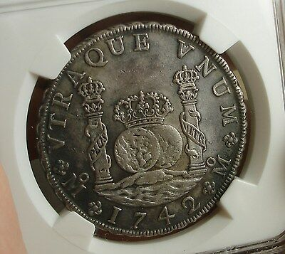1742/1 Mo Mexico 8 Reals XF Details Toned NGC