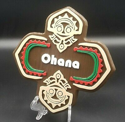 "XL 9"" x 9"" Polynesian Themed Sign - Ohana!"