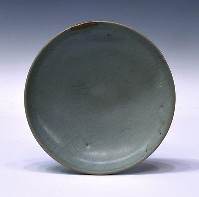 An antique Chinese Jun ware dish, Song/Jin dynasty