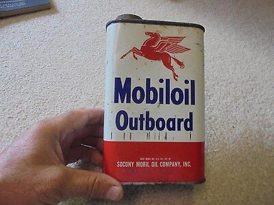 Vintage Socony Mobil Oil Outboard Oil Can