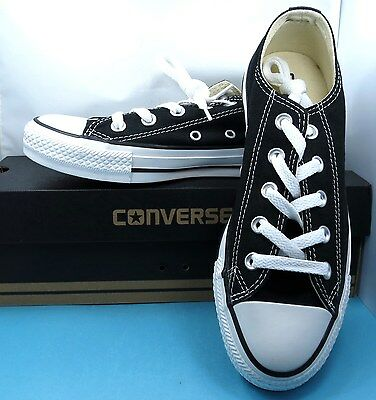 New Converse All Star Ox Black Shoes Mens Size 4 Women Size 6 Nib