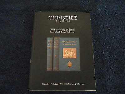 """Christie's Thailand Auction Catalog """"the Treasure Of Siam"""" Private Collection"""