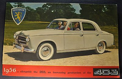 1956 Peugeot 403 Sales Brochure Folder Excellent Original 56