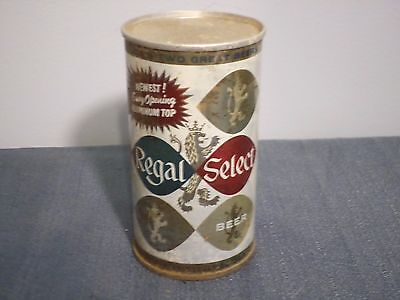 Vintage Regal Select Newest Easy Opening Aluminum Top Maier Flat Top Beer Can GB