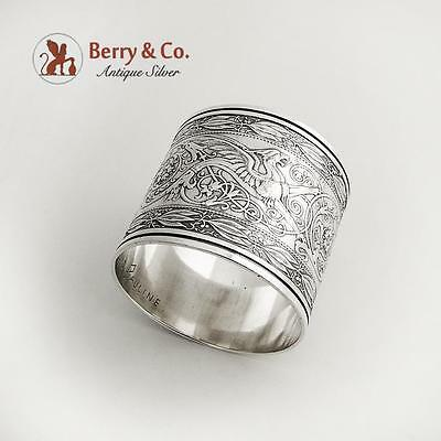 Arabesque Napkin Ring Sterling Silver Whiting 1875