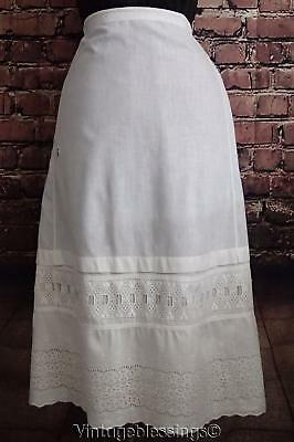 Antique Lace Trimmed Petitcoat Skirt