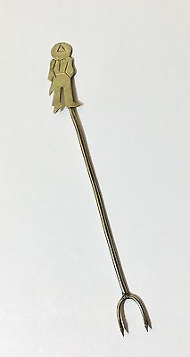 Vintage Mexican Silver Silver Alloy Figural Hors D'oeuvres Fork Olive Pick