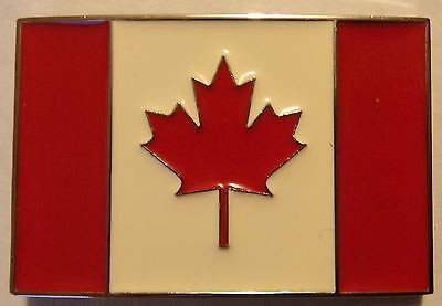 Canada Flag Belt Buckle - New Canadian Buckle
