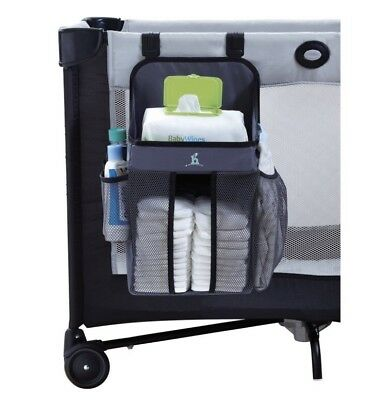 Hiccapop Playard Nursery/ Diaper Organizer, Diaper Caddy, Universal Fit