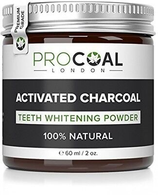 PROCOAL Activated Charcoal Teeth Whitening Powder 60ml (Premium Grade)