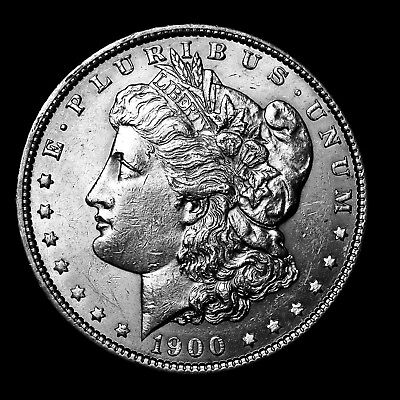 1900 P ~**ABOUT UNCIRCULATED AU**~ Silver Morgan Dollar Rare US Old Coin! #612